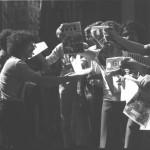 A gauche : Patrick et Mimmo; à droite : Maryvonne, Georges, Jean-Jacques,?, Eric, Pierre, Alain