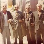 Au centre, Manuel Calle (Barcelone en 1980)